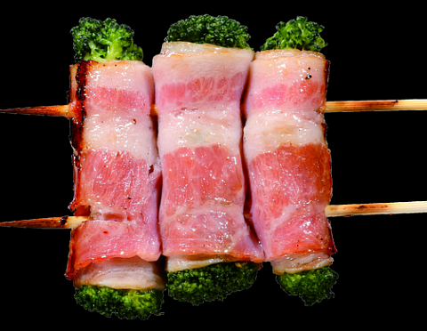 Kushiyaki Broccoli with bacon 1 pc